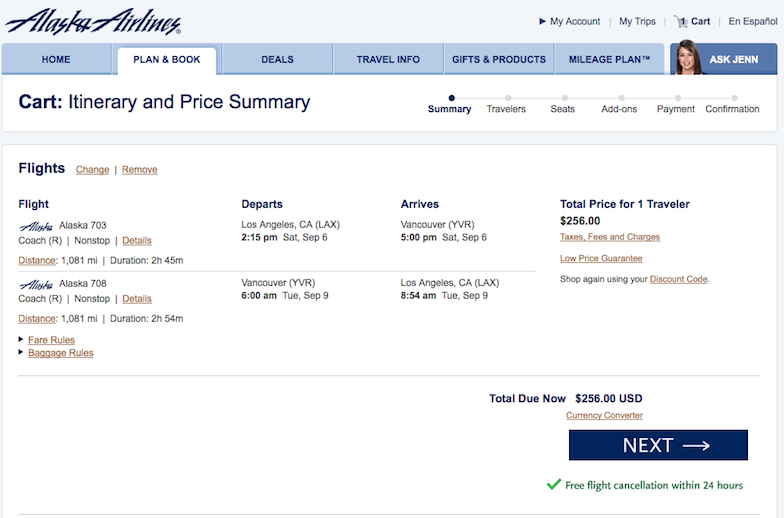 Int'l Fare of the Day: Los Angeles to Vancouver $256